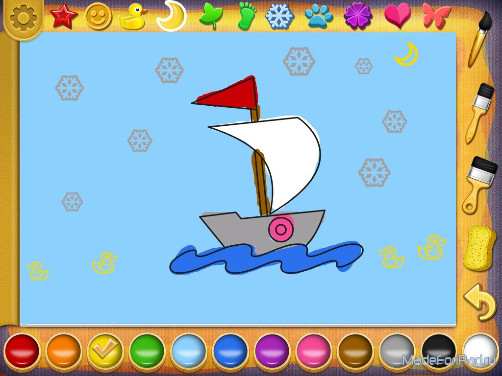 Обзор детской игры рисование и раскраска играть