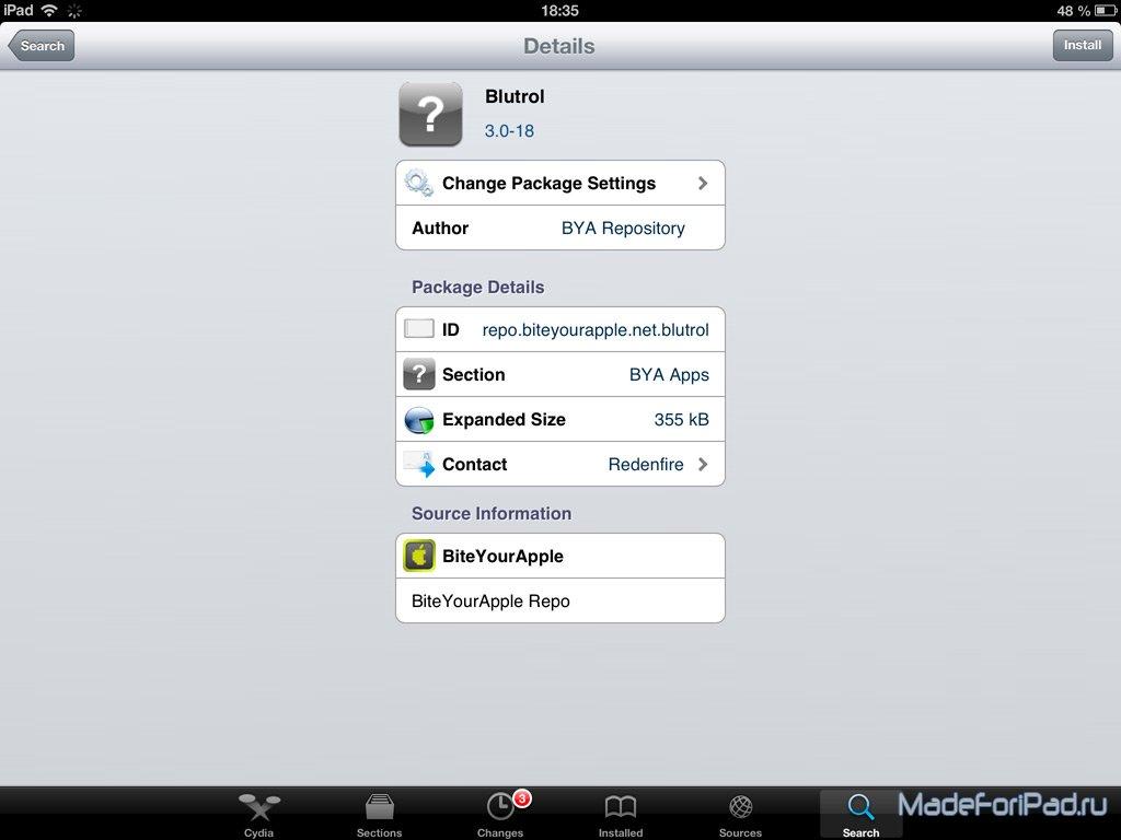 Твик Blutrol - подключаем контроллер от PS3 к iPad | Все для iPad