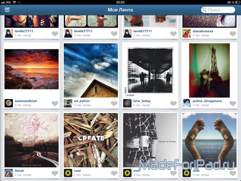 Приложение Padgram - Instagram viewer для iPad