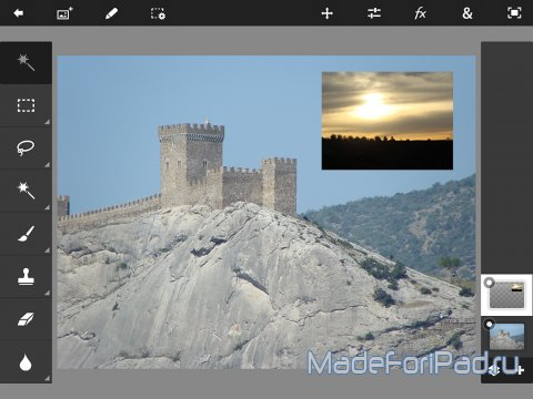 Приложение Adobe Photoshop Touch для iPad