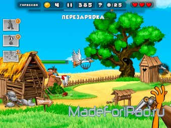 Duck Destroyer на iPad. Помоги лису в охоте на уток
