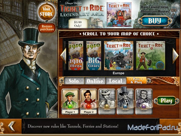 Ticket to Ride для iPad. Вагонные споры