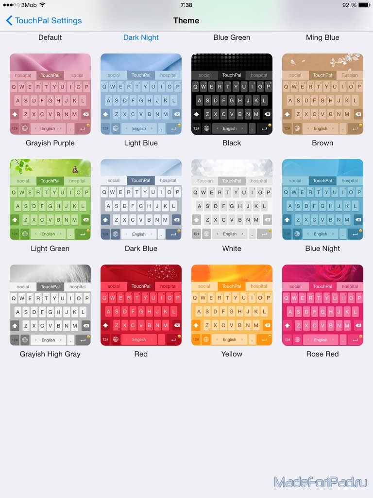 TouchPal Keyboard - Swype-клавиатура для iOS 8 с темами и
