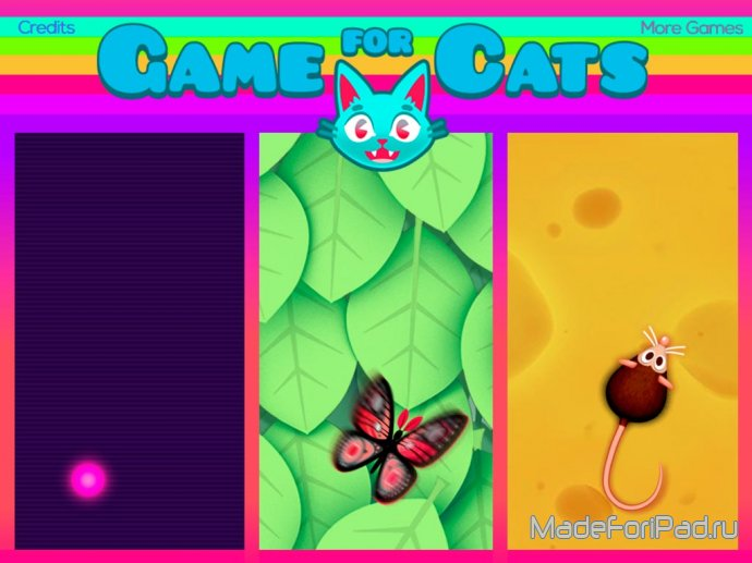 Game for Cats - игра для котов и кошек на iPad